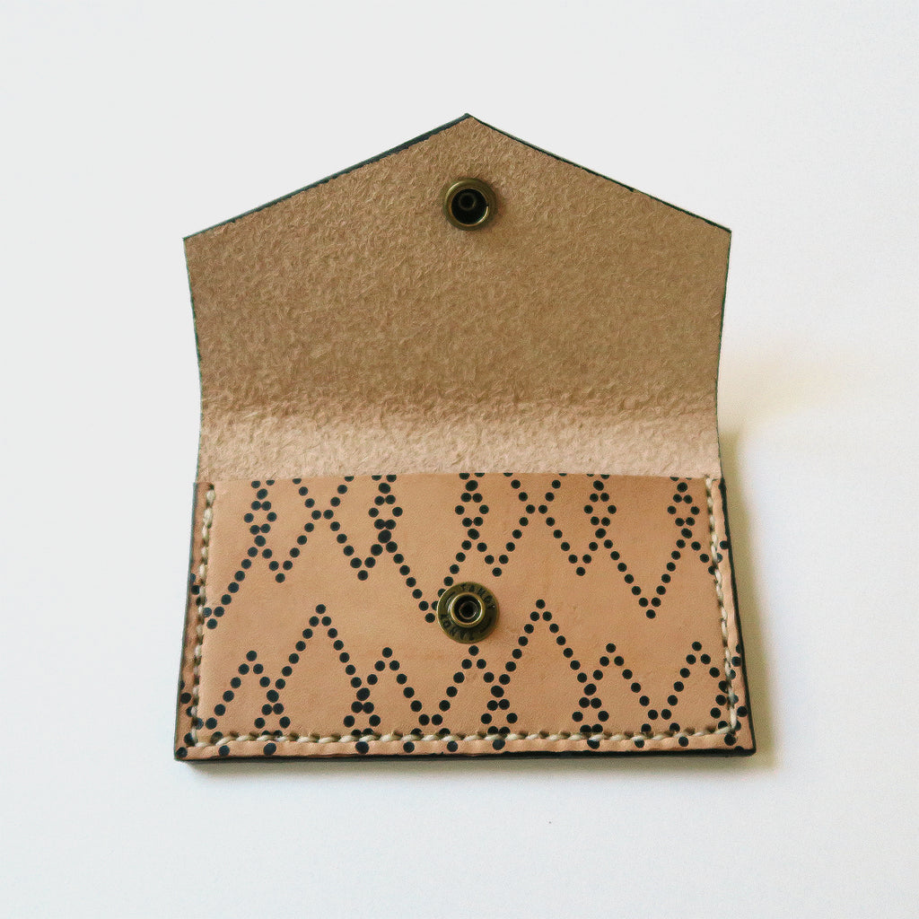 Hand-Stitched Leather Snap Wallet - Canyon