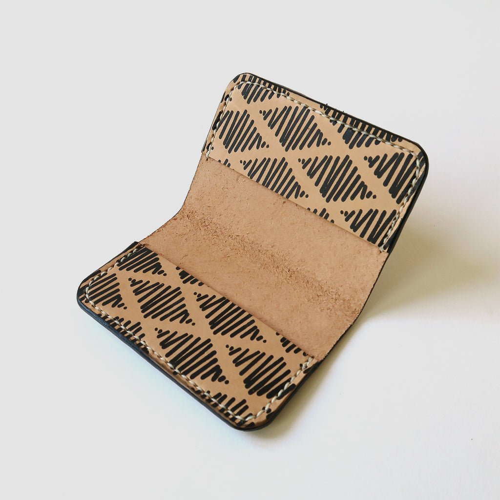 Hand-Stitched Leather Bifold Wallet - Thalia