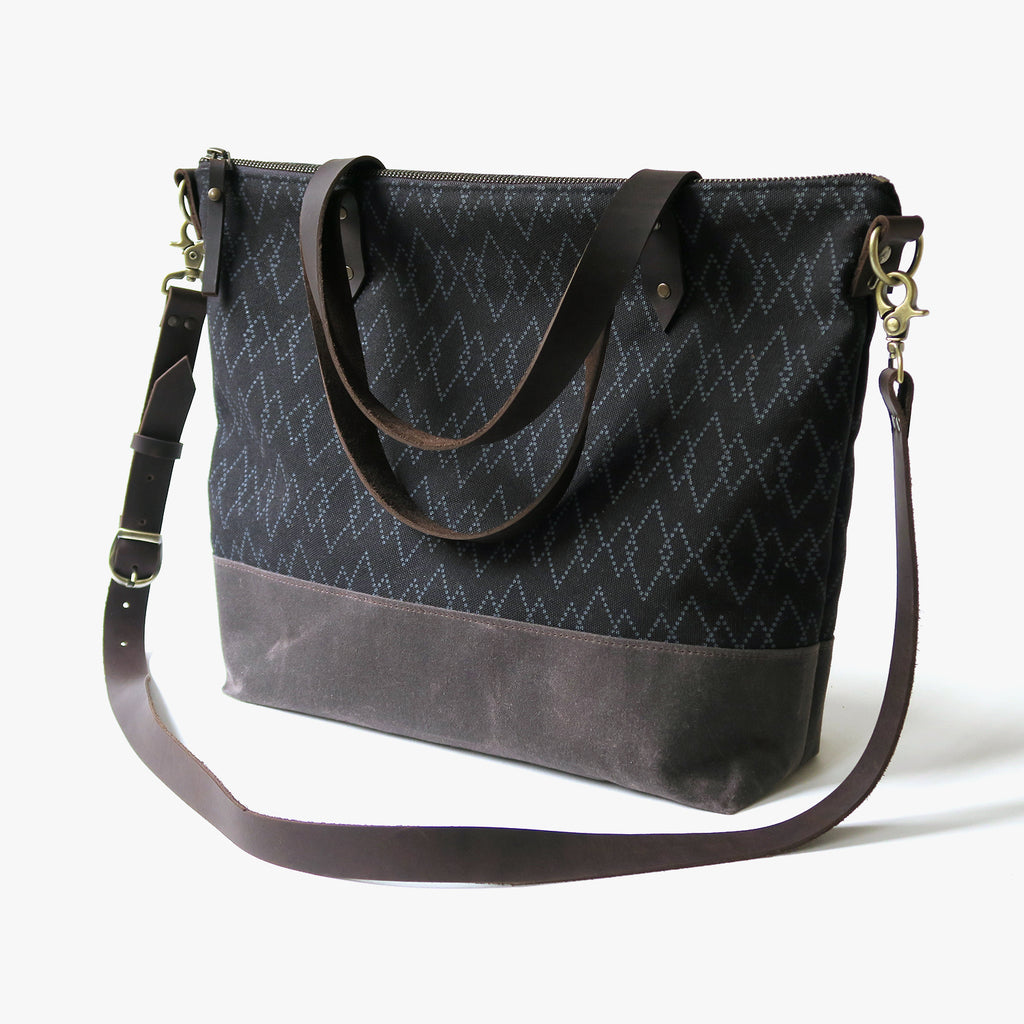 Crossbody Tote Bag 'Canyon' Black/Brown