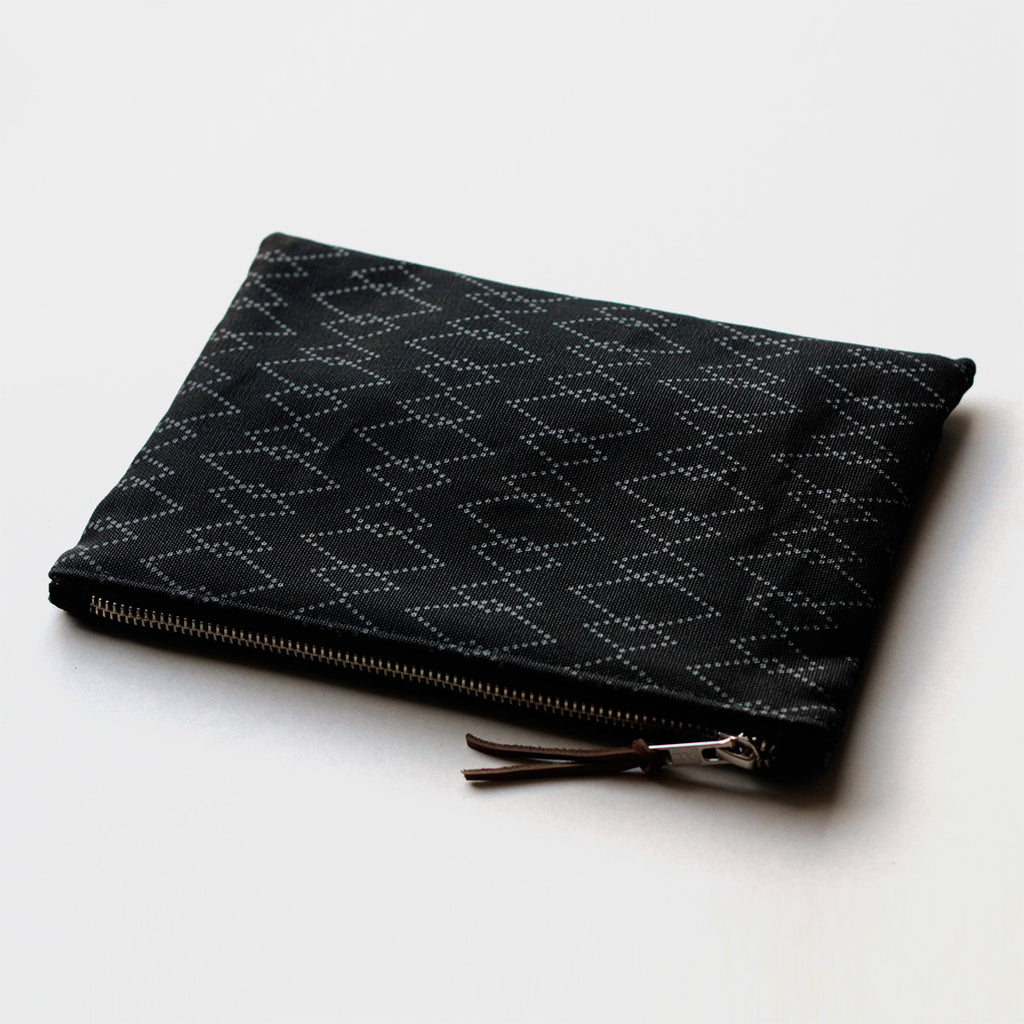 Large Zip Pouch 'Canyon' Black/Gray