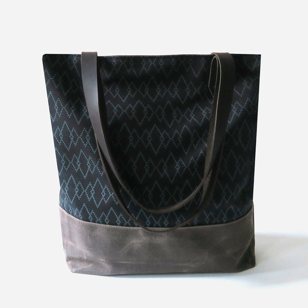Canvas Tote Bag 'Canyon' Black/Brown