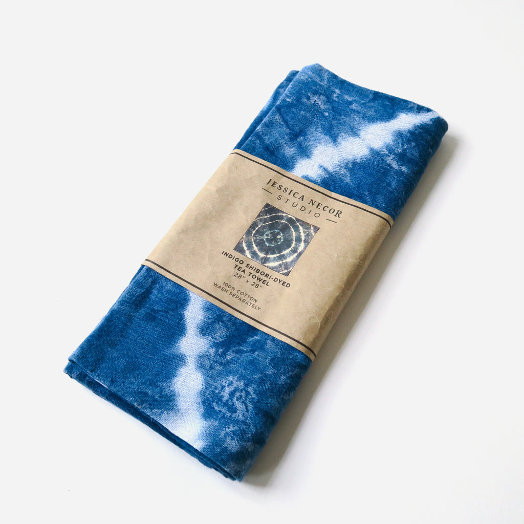 Cotton Shibori Tea Towel