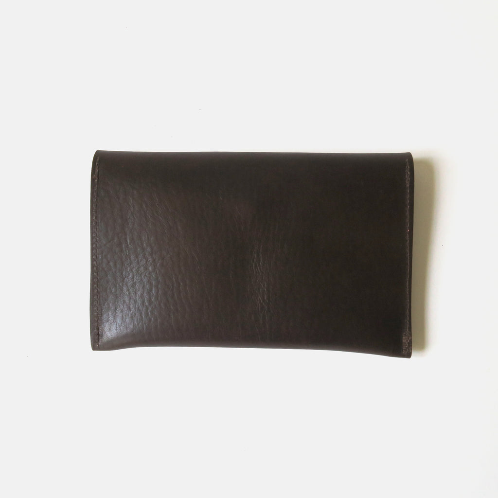 Leather Envelope Pouch Medium - Brown Pebbled