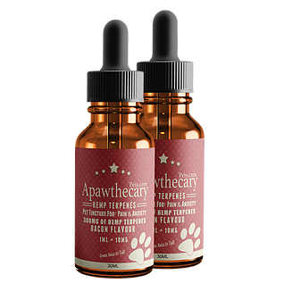 Apawthecary Pets Hemp Terpene Infused Bacon Flavored Pet Tincture 300mg - 30ml