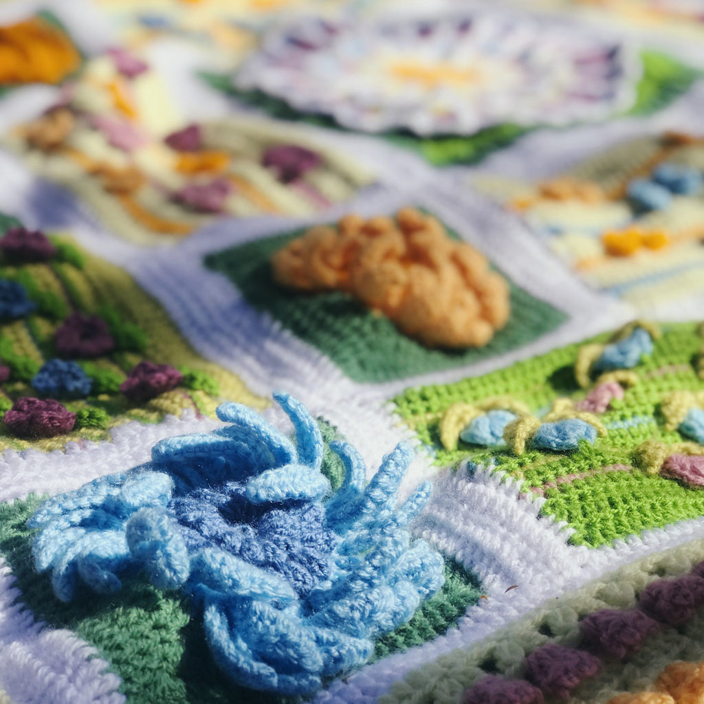 Awakening from our winter hibernation to crocheted BotaniCAL art!