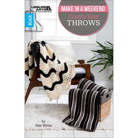 Comfy Knit Throws - Make in a Weekend