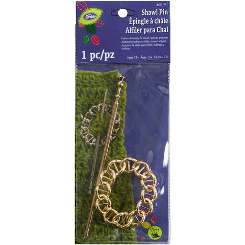 LoRan Metal Shawl Pin - Large
