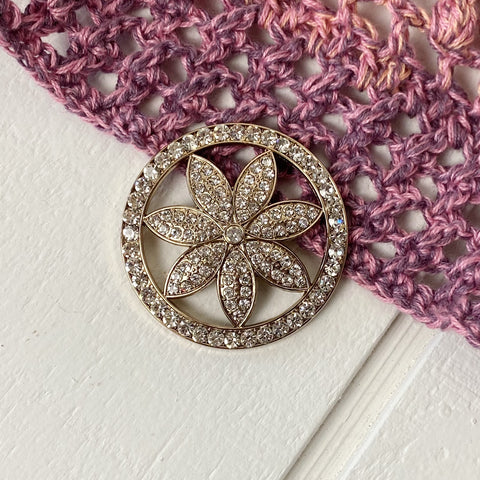 Magnetic Flower Brooch