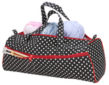 Storage Bag - Black & White Polka Dots