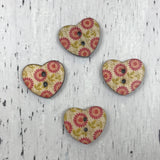 Single Buttons - Heart (18mm)