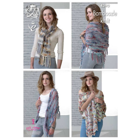 King Cole 4390 - Scarf, Wrap & Shawl