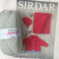 Sirdar 5165 - Baby Girl's Jacket, Bonnet & Blanket