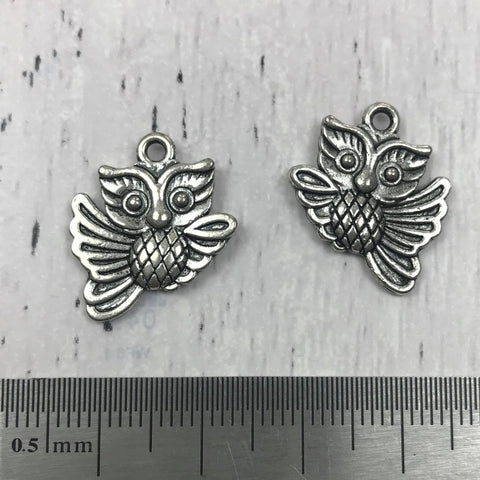 Silver Charm - Large Owl