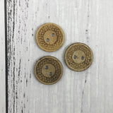 Natural Buttons - Etched (18mm)