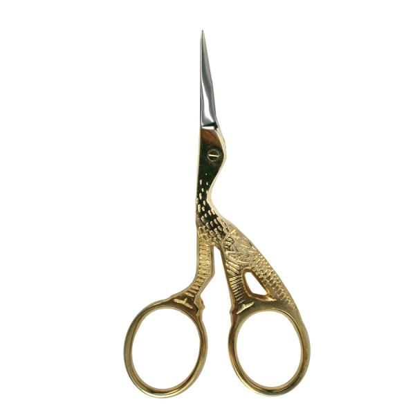 Birch Scissors - Gold Plated Stork