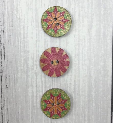 Trio of Buttons - Round (20mm)