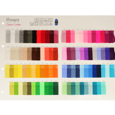 Scheepjes Colour Crafter - Shade Card