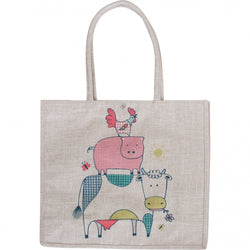 Linen Tote Bag - Country Friends
