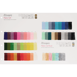 Scheepjes Merino Soft + Brush - Shade Card
