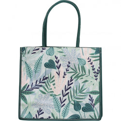 Linen Tote Bag - Mixed Leaves