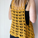 Yarnish Makes - Fantail Vest by Fiona Langtry