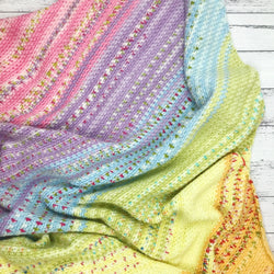 Yarnish Makes - Fruit Cup Fade Blanket by Emma Wilkinson