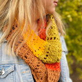 Yarnish Makes - Colourblock Cowl by Shelby Bryon