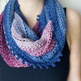 Yarnish Makes - Slow Wave Infinity Scarf by Lucienne Shenfield