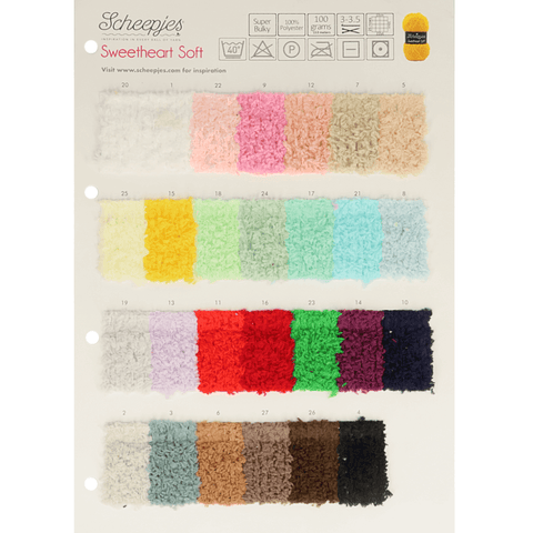 Scheepjes Sweetheart Soft - Shade Card