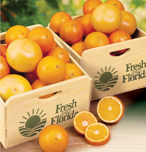 Citrus Field Crate - Oranges, Oranges & Grapefruit Or All Grapefruit - Florida Orange World