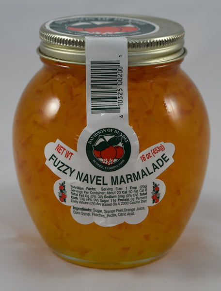 Fuzzy Navel Marmalade 16 oz. - Florida Orange World