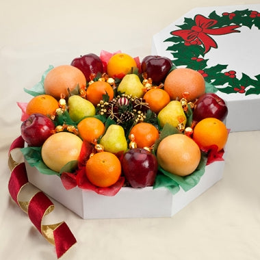Holiday Fruit Wreath - Orange World
