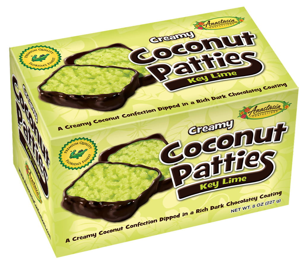 Key Lime Coconut Patties 8oz - Florida Orange World