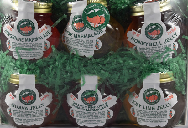 Six Pack of 3 oz. Jelly and Marmalade - Florida Orange World