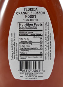 Orange Blossom Honey 32 oz. - Florida Orange World