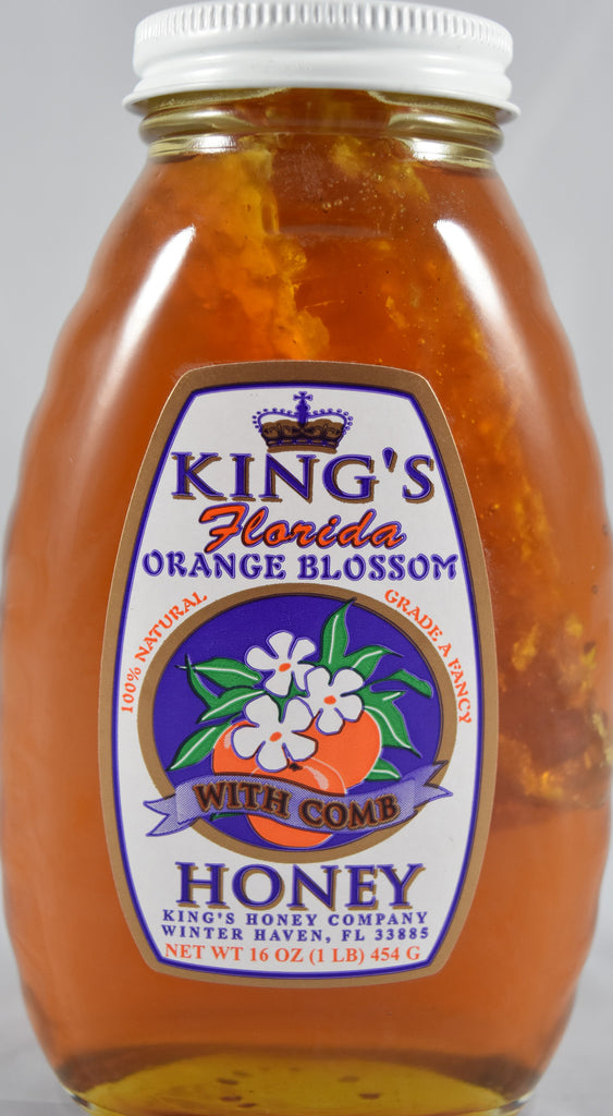 Orange Blossom Honey with Comb 16 oz. - Florida Orange World