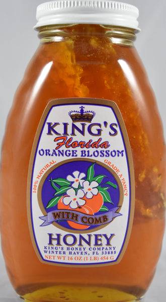 Orange Blossom Honey with Comb 16 oz. - Orange World