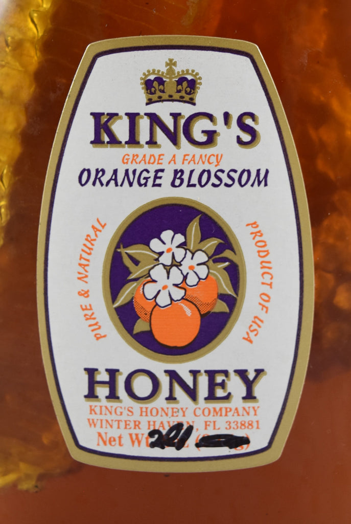 Orange Blossom Honey with Comb 32 oz. - Florida Orange World