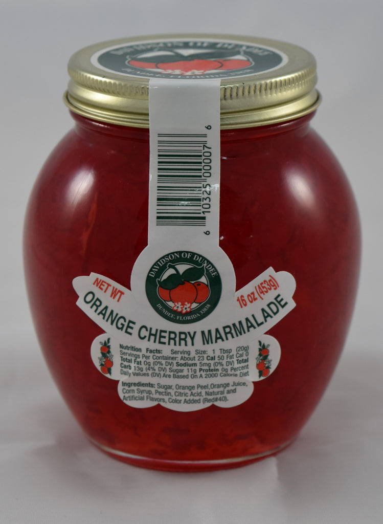 Orange Cherry Marmalade 16 oz - Florida Orange World