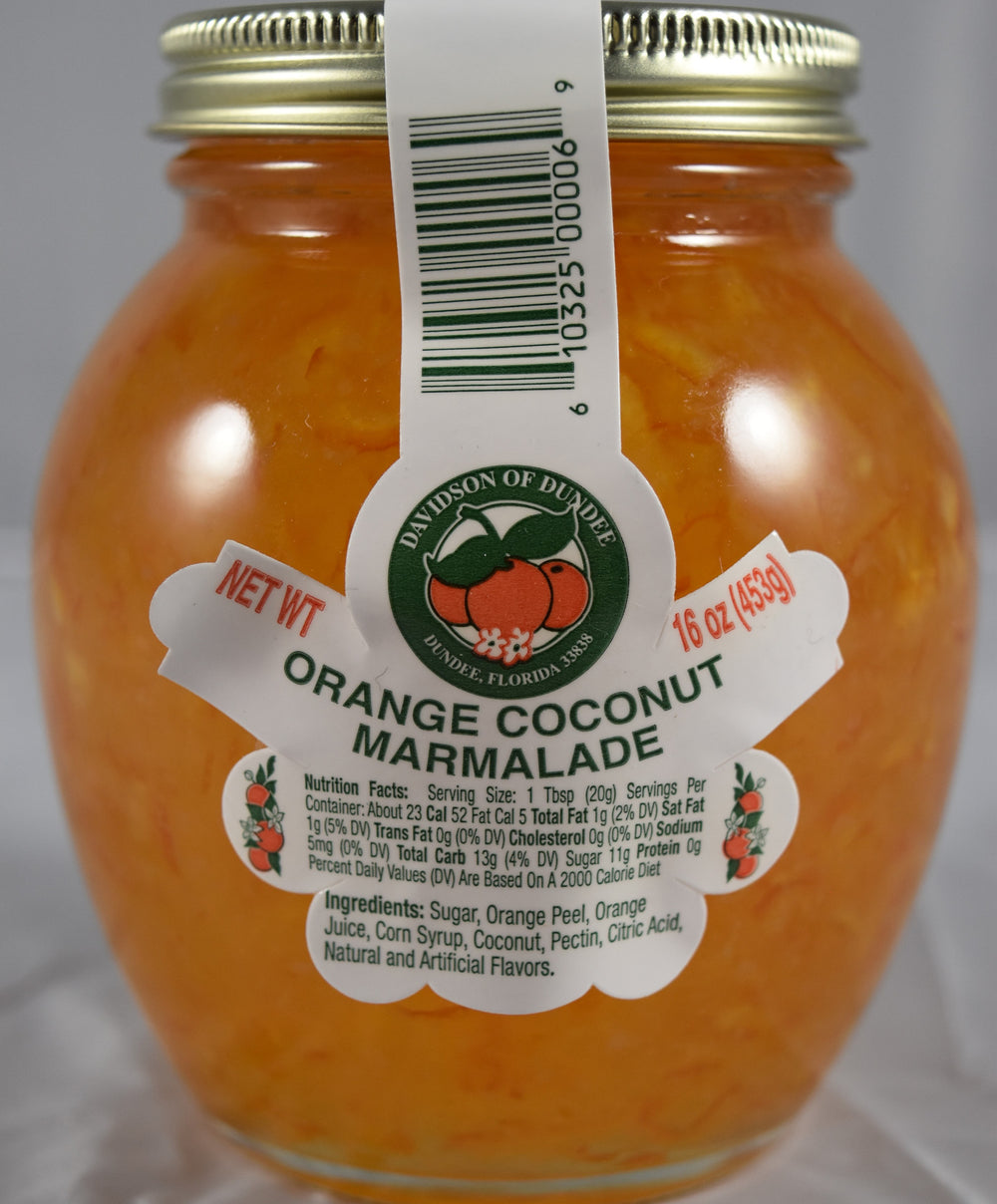 Orange Coconut Marmalade 16 oz. - Florida Orange World