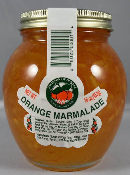 Orange Marmalade 16 oz. - Florida Orange World