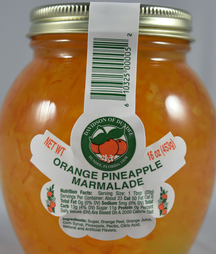 Orange Pineapple Marmalade 16 oz. - Florida Orange World