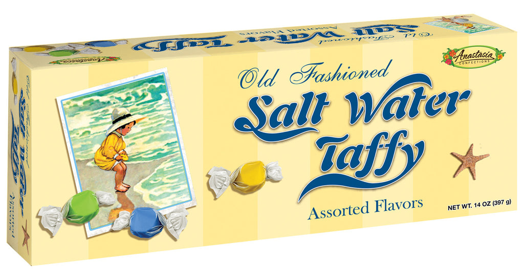 Salt Water Taffy in a classic Little Toes Assorted  box 14 oz. - Florida Orange World