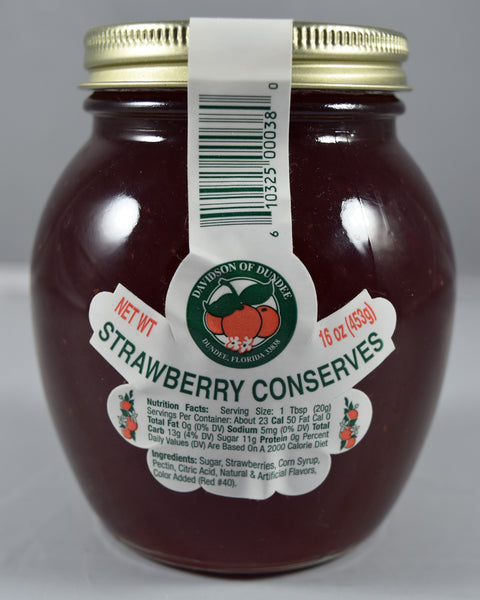 Strawberry Conserves 16 oz - Florida Orange World