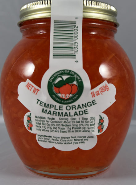 Temple Orange Marmalade 16 oz. - Florida Orange World