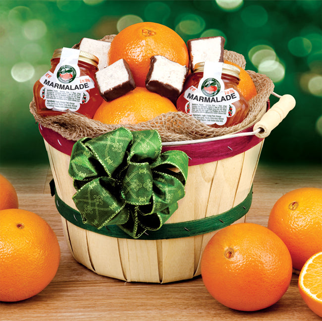 Deluxe Peck Basket - Florida Orange World