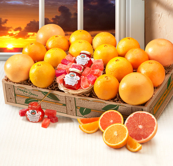Florida Sunset Box - includes Ruby Red Grapefruit, Scarlet Navels and Golden Navels - Orange World