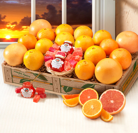 Florida Sunset Box - includes Ruby Red Grapefruit, Scarlet Navels and Golden Navels - Florida Orange World