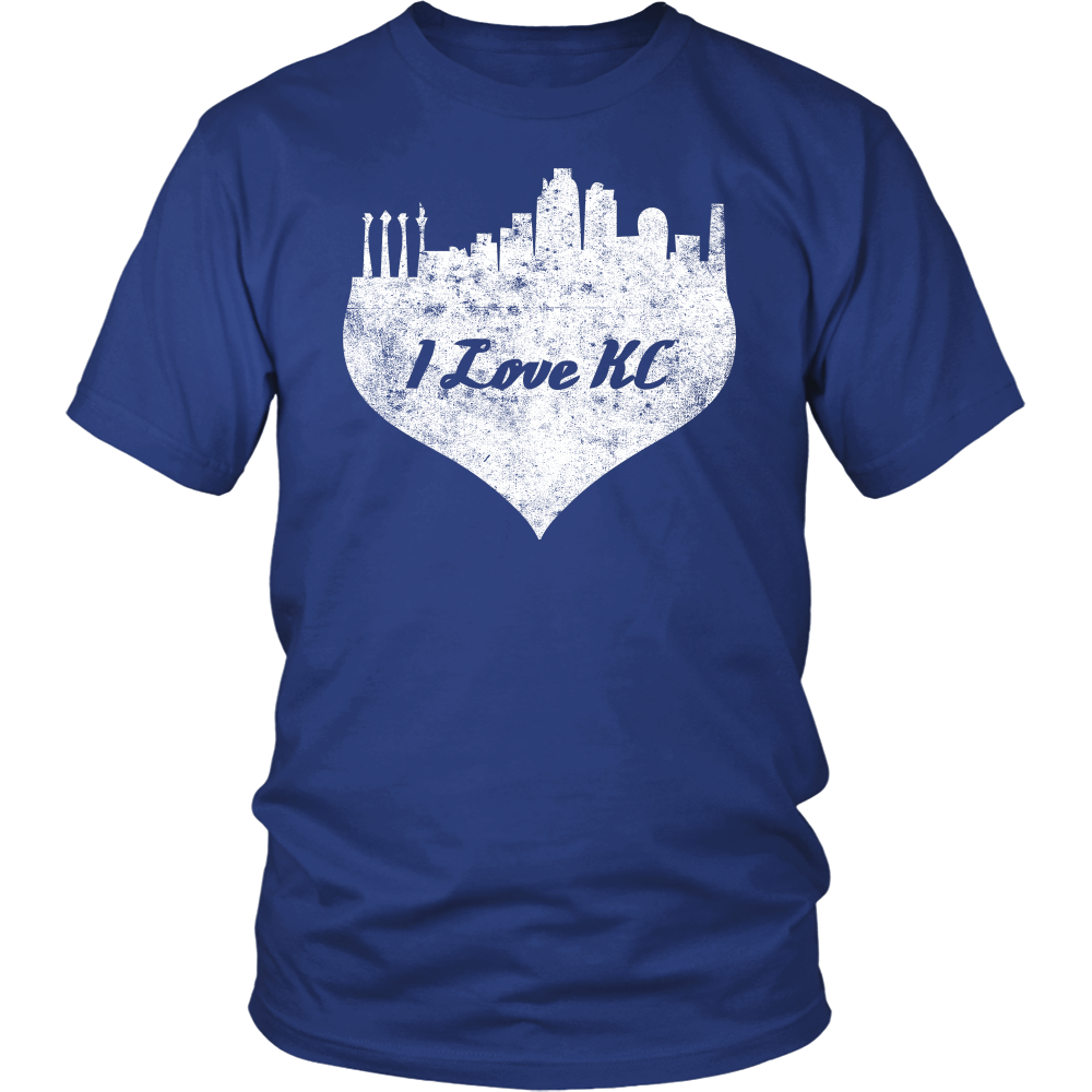 I love Kansas City Shirt Vintage KC Heart Appreciation Gift
