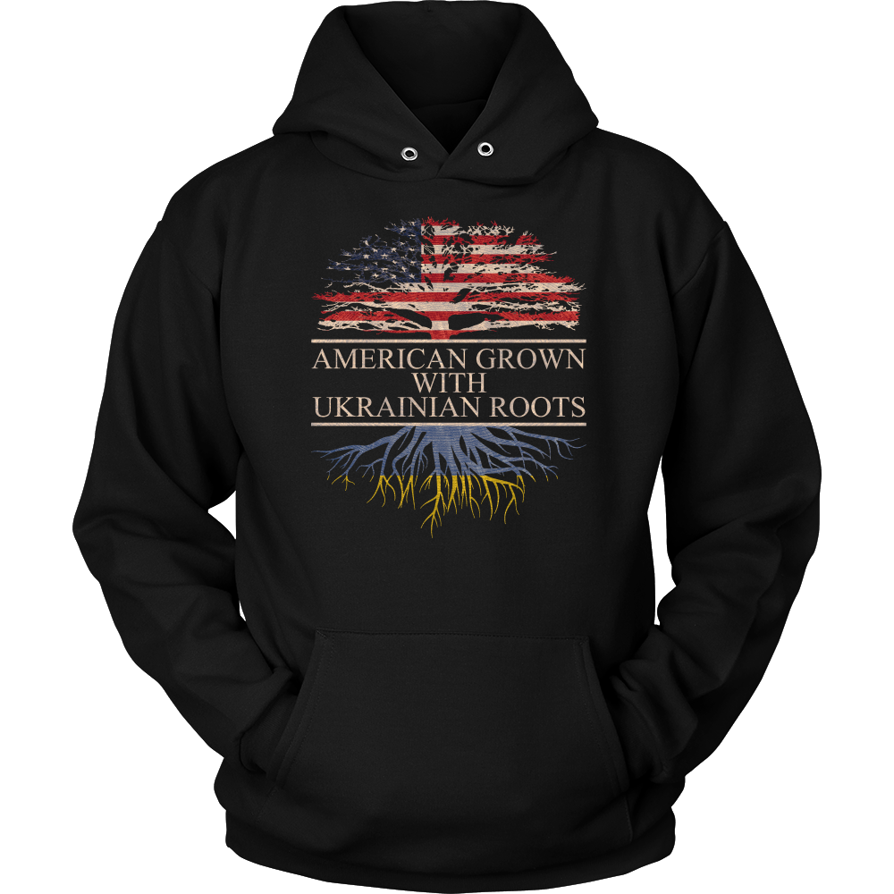 American Grown With Ukrainian Roots Hoodie
